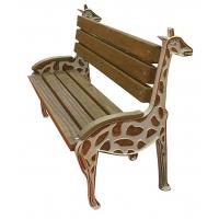 Zürafa Figürlü Ahşap Bank