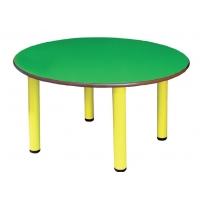 Table ronde avec pieds en métal