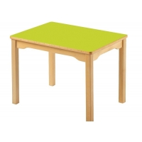 Wooden square rectangle table