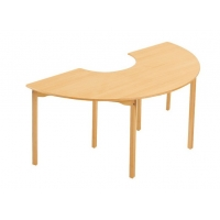 Table en bois Half Round naturel