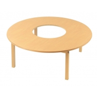 Natural Wood Round Table Games