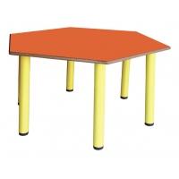 Hexagon Table avec pieds en métal