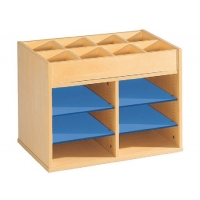 Cardboard with shelf