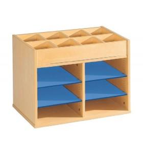 Cardboard with shelf