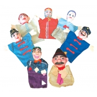 Plastique Puppet Set