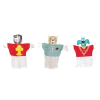 Plastic Animal Puppet Set