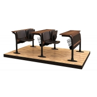 Leather coating binary sitting lecture desk