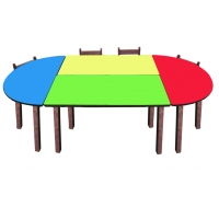Groupe Table ovale