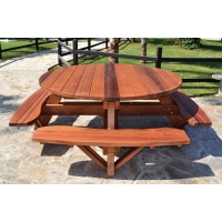 Bahçe Tipi Ahşap Piknik Masası