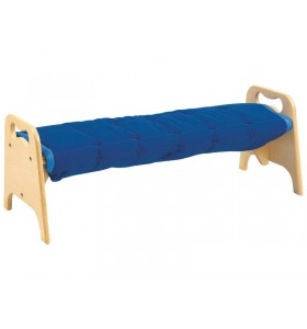 Plywood bank with cushion