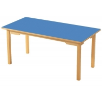 Wooden leg rectangle table