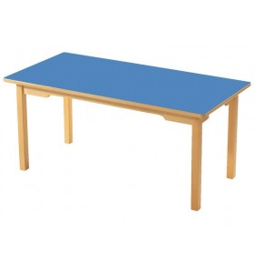 Ahşap Ayaklı Dikdörtgen Masa
