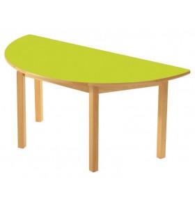 Wooden Half Round Table