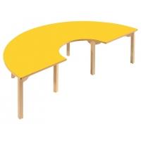 La moitié en bois Table ronde