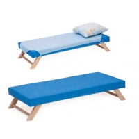 Foldable Wooden Leg Bed