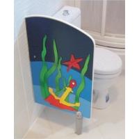 Figürlü WC Paravanı