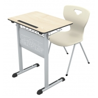 Art compact single school desk