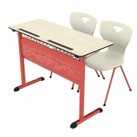 Art compact double school desk