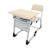 Single classic werzalit school desk (front covered)