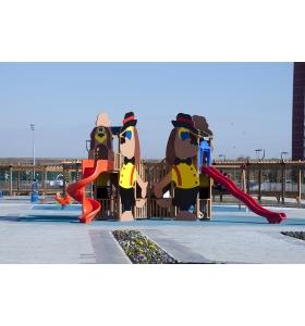 Köpek figürlü oyun parkı